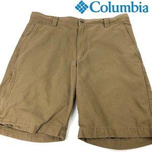 Mens Columbia Khaki Shorts Brown size 34